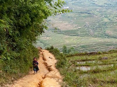 ベトナムの山岳風景