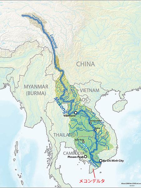 メコン川のマップ