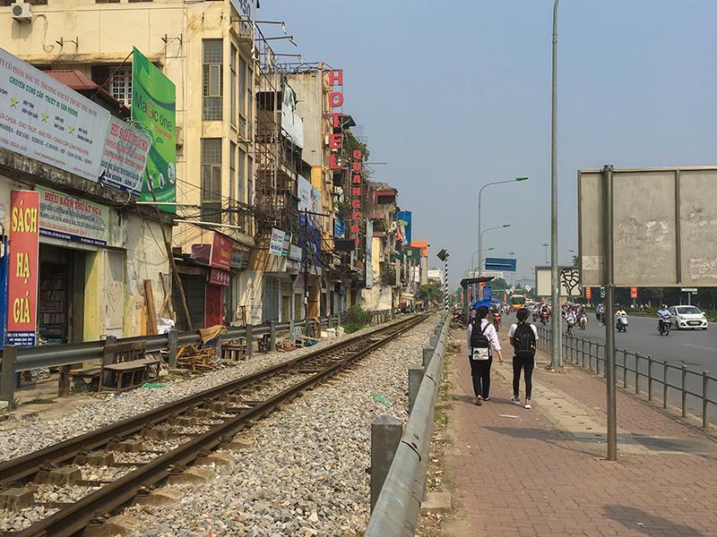 ベトナムのハノイの線路