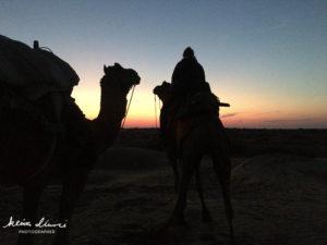 夕暮れのサム砂漠
