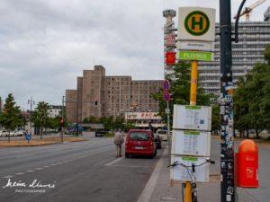 アレキサンダープラッツ駅のバス停