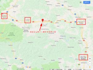 スロバキア東部の地図