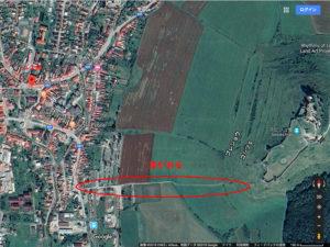 スピシュキーポドフラディエのルートマップ(航空写真)