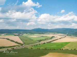 スピシュスキー城から見た景色