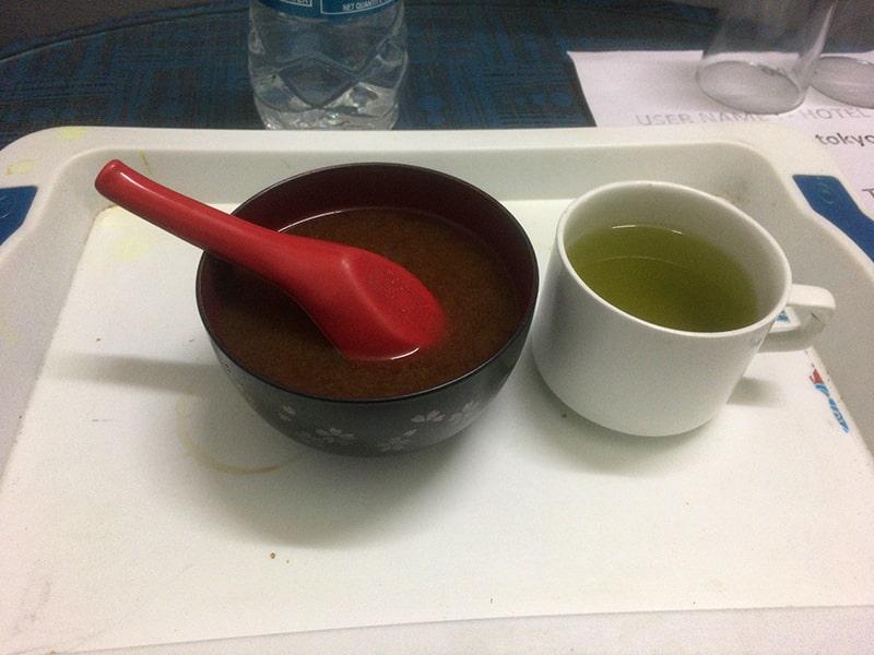 味噌汁とお茶